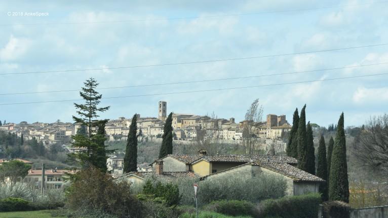 Bergort in der Toskana